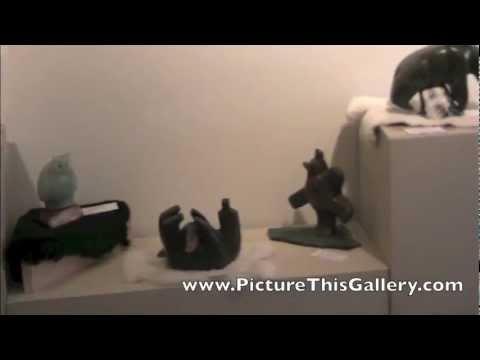 Sculpture Artist Vance Theoret at Edmonton Art Show