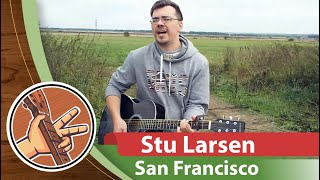 Stu Larsen - San Francisco (Autumn Acoustic Cover in Russian Field with North Wind & Capo)
