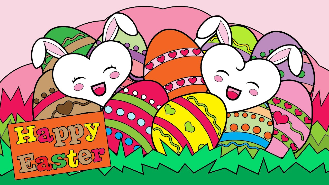 easter coloring pages for kids easter coloring book part 04 - Easter Coloring Book