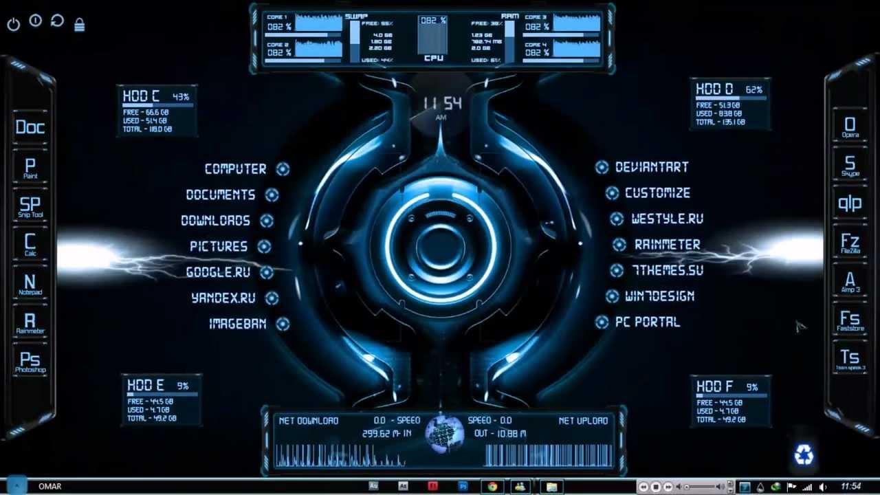 Alienware Animated Wallpaper Skins Instalacion De Quot Escritorio Futurista Futuristic