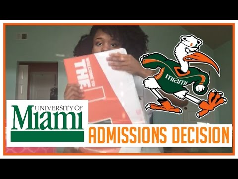 University of Miami Acceptance Package (w/ SCHOLARSHIP) +Admissions Decision Reaction 2016