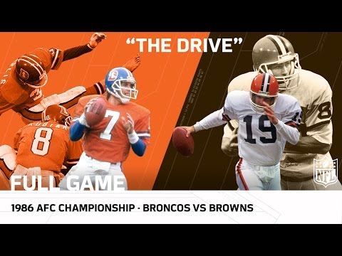 """The Drive"" Broncos vs. Browns 1986 AFC Championship Game 