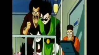Gohan gives a senzu bean to Videl