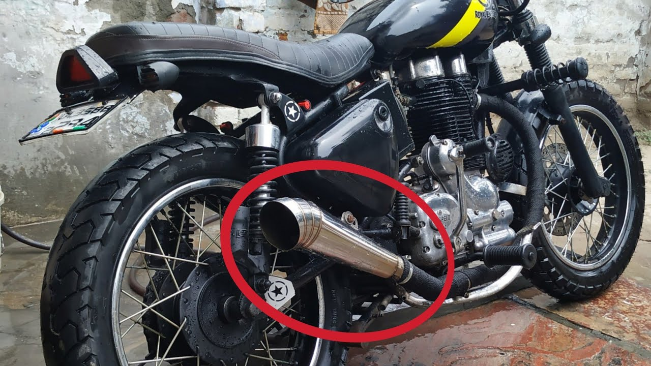 Custom Exhaust for my RE Scrambler | Total Modification