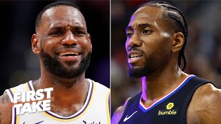 Stephen A. to LeBron: 'Are you listening to this blasphemy?!' | First Take debates LeBron vs. Kawhi