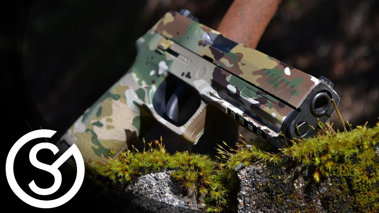 gunskins pistol skin sig sauer diy install tutorial youtube