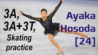 Ayaka HOSODA [24] - 3A, 3A 3T, Skating Practice & Elements (06/2019)