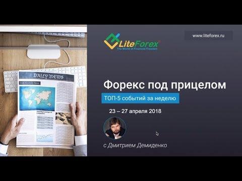 Форекс под прицелом. TOP-5 событий за неделю 23-27 апреля 2018
