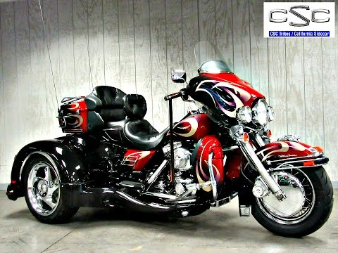 SOLD! 2001 Harley-Davidson Ultra Classic with California Sidecar Trike  conversion