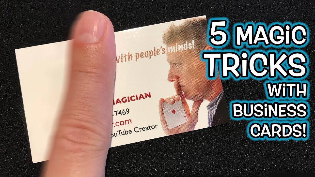 5 amazing magic tricks you can do with business cards youtube 5 amazing magic tricks you can do with business cards colourmoves