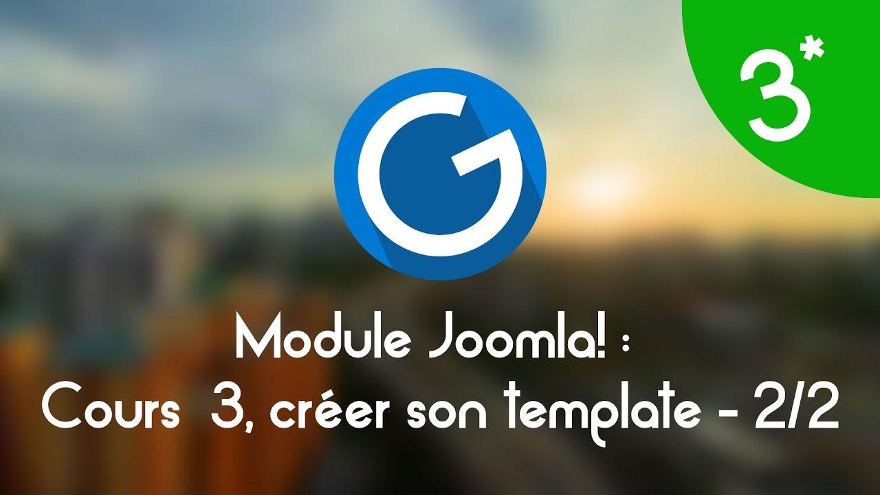Download Formation IMM - Module Joomla!: Cours tuto 3 , créer son template Joomla! 2/2