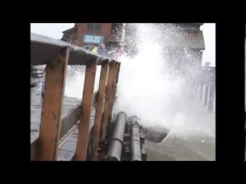 Storm Waves Sterns Wharf Santa Barbara 2014