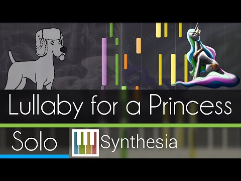 Lullaby for a Princess - |DUET PIANO TUTORIAL| - Ponyphonic -- Synthesia HD
