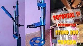 Cara pembuatan stand bor /dudukan bor tangan