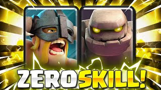 THIS IS TOO EASY! NEW ELITE BARBS GOLEM DECK IS TAKING OVER CLASH ROYALE!! 😱