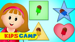 Place the Missing Ice Cream Shapes + Fun Learning Videos by Kidscamp