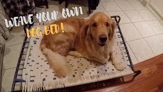 DIY Weaved Dog Bed