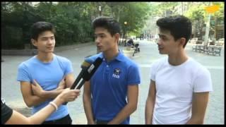 Казахстанские тройняшки Толе, Казбек и Айтеке покоряют Нью-Йорк