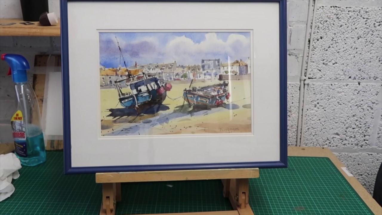 ARTISTS save money restore old frames for your artwork - YouTube