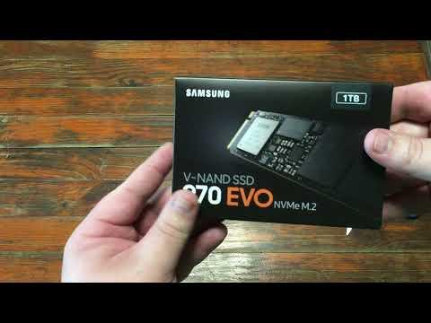 Samsung 970 Evo series 1TB M.2 PCIe 3.0 x4 V-NAND TLC (MZ-V7E1T0BW)