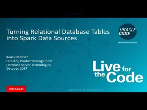 Turning Relational Database Tables into Spark Datasources