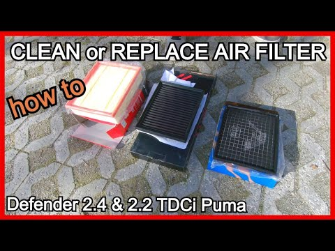 DEFENDER PUMA TDCI AIR FILTER   DIY How to clean / replace  Land Rover Defender   Maintenance series