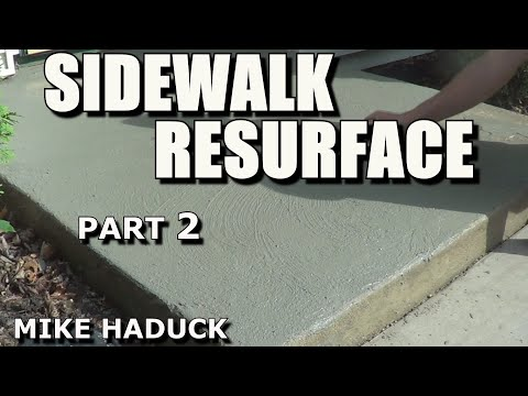 How I Resurface A Concrete Sidewalk Part 2 Of 3 Mike