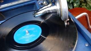 Antique Old Blue HMV His Master