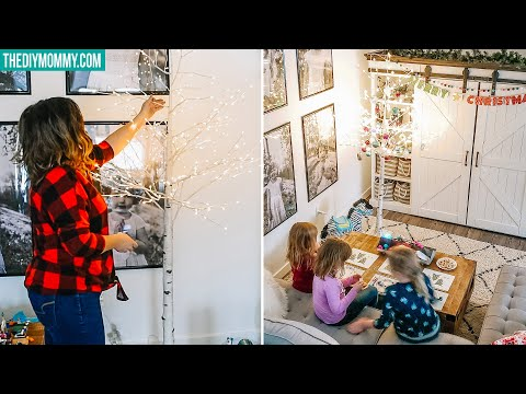 DECORATING OUR BASEMENT FOR THE HOLIDAYS! 🎄 DIY KIDS CHRISTMAS CRAFTS + DECOR