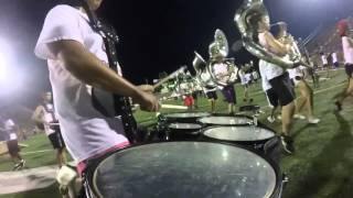 Taft Raider Band Drumline 2015-Tribal Spirit-Tenor Cam