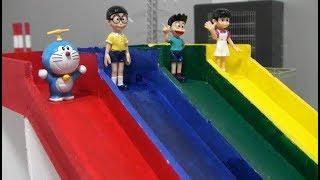 Doraemon Color Slide Toys  Video For Kids