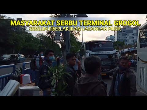 Penumpang Serbu Terminal Grogol Sebelum Diberlakukan Larangan Mudik Lebaran 2021❗