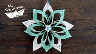 Sterne basteln mit Papier zu Weihnachten: schöne Weihnachtsdeko selber basteln