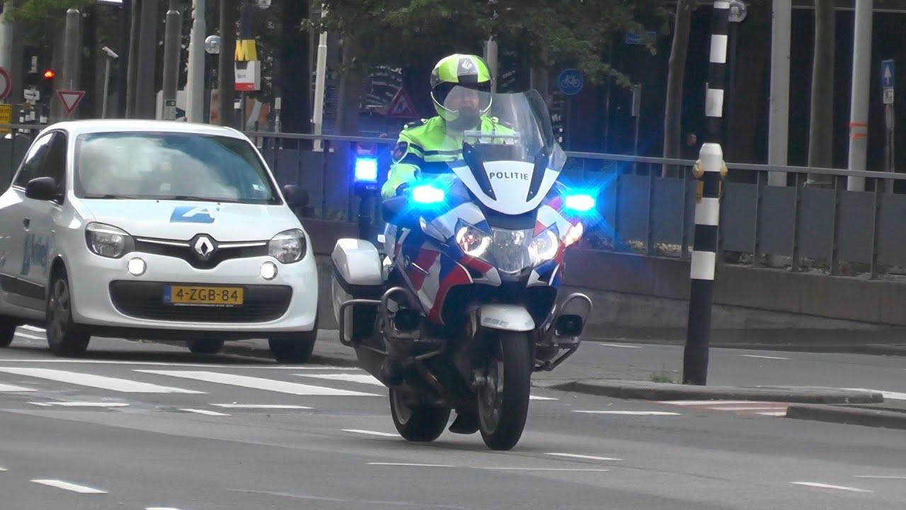 (Verkeers) Politie, Brandweer en Ambulance met spoed naar ongeval Blaak Rotterdam! #1244