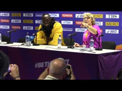 Usain Bolt retirement press conference at 2017 IAAF World Championships