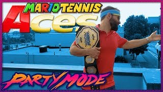 The Return of Johnny Ace in MARIO TENNIS ACES - Party Mode