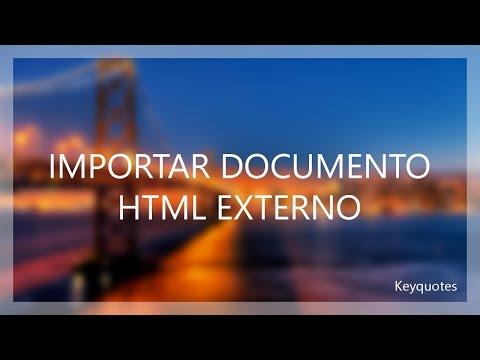 Tutorial Php | Importar Archivo Html Externo