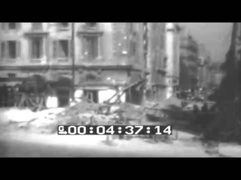 Mine Sweeper Sweeps Marseille Harbor, Mines Explode; WW2 General Scenes Of Destruction (full)