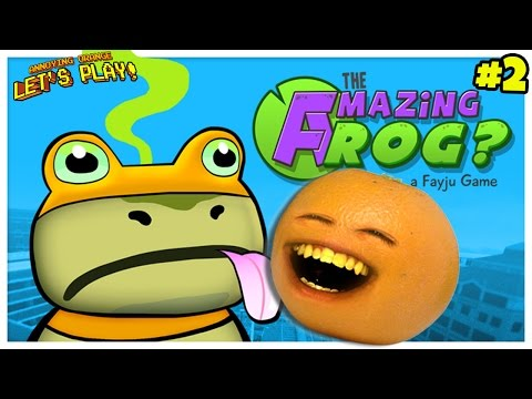 Annoying Orange Plays - Amazing Frog #2: Flying Frog Legs!