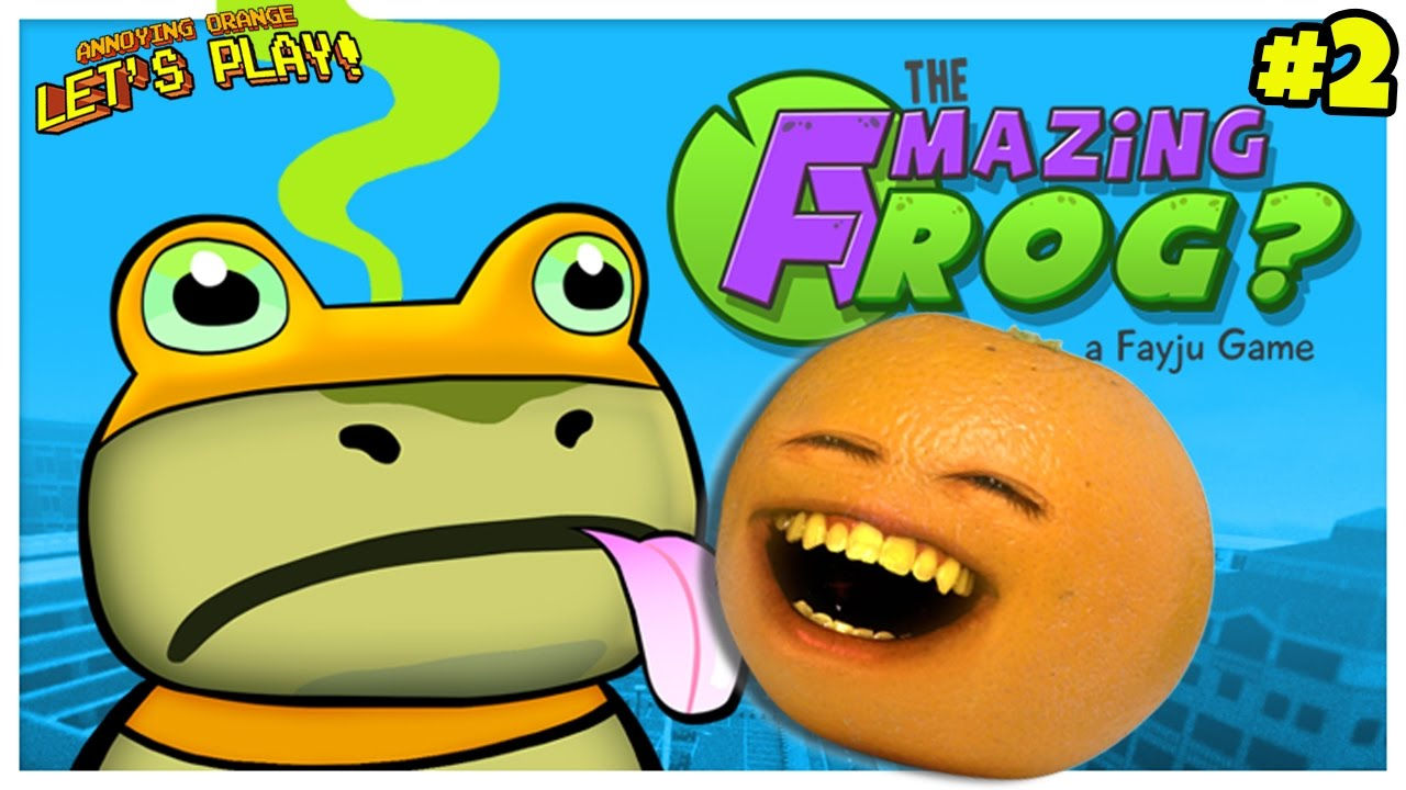 annoying orange plays amazing frog 2 flying frog legs youtube