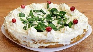 Грибной бисквитный торт с сырным кремом - самый настоящий грибной бисквит!