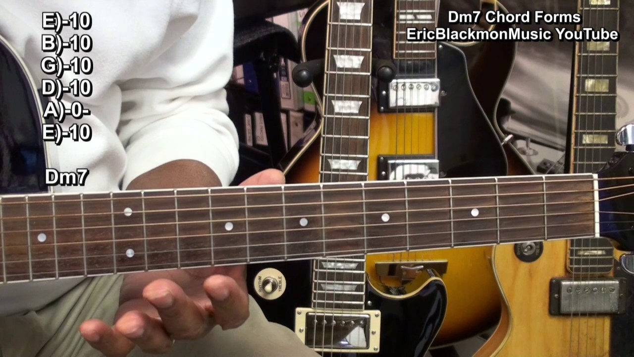 How To Play Dm7 Guitar Chord Shapes 5 Ways On Guitar