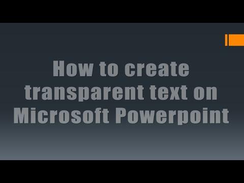Powerpoint 2019 hintergrund transparent