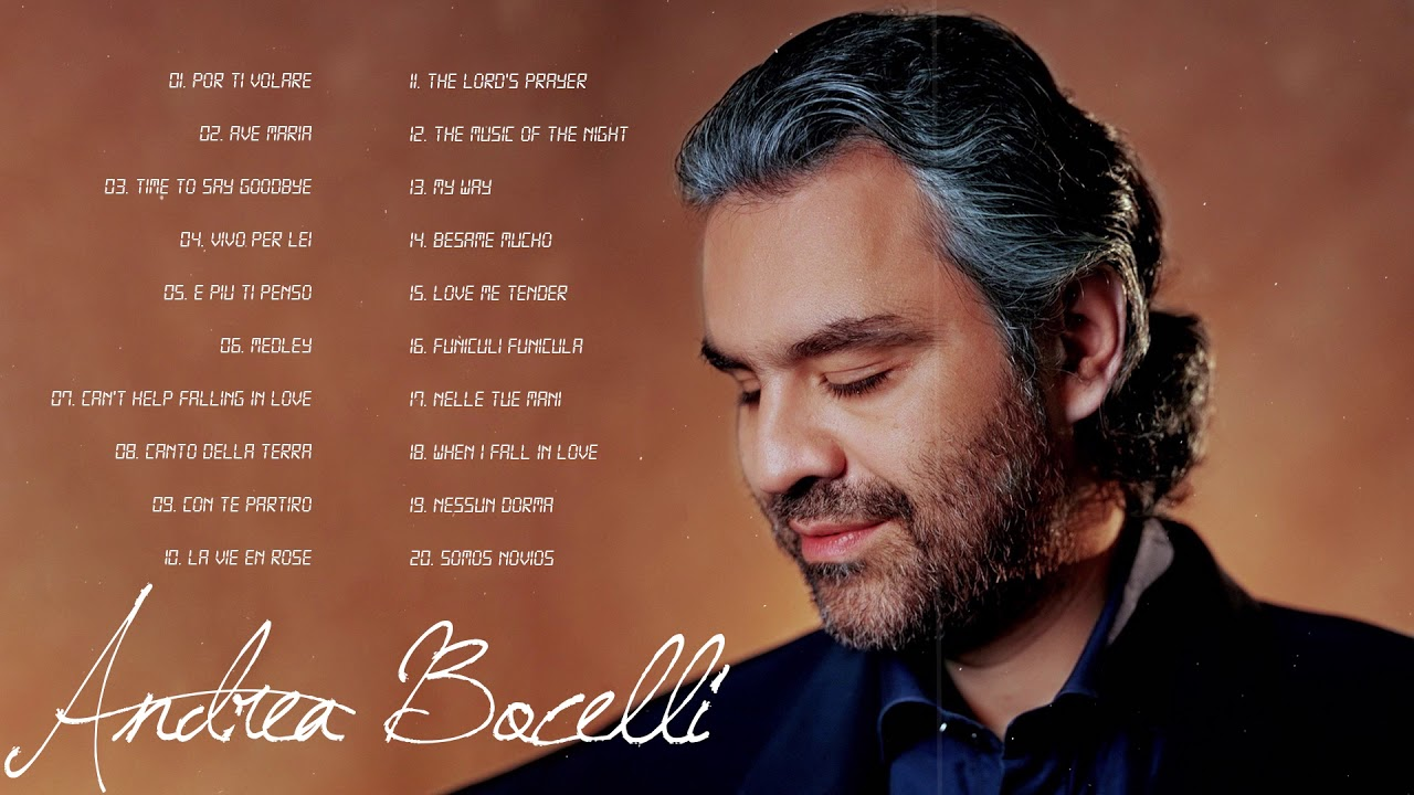 Andrea Bocelli Greatest Hits 2020 - The Best of Andrea Bocelli Full Album