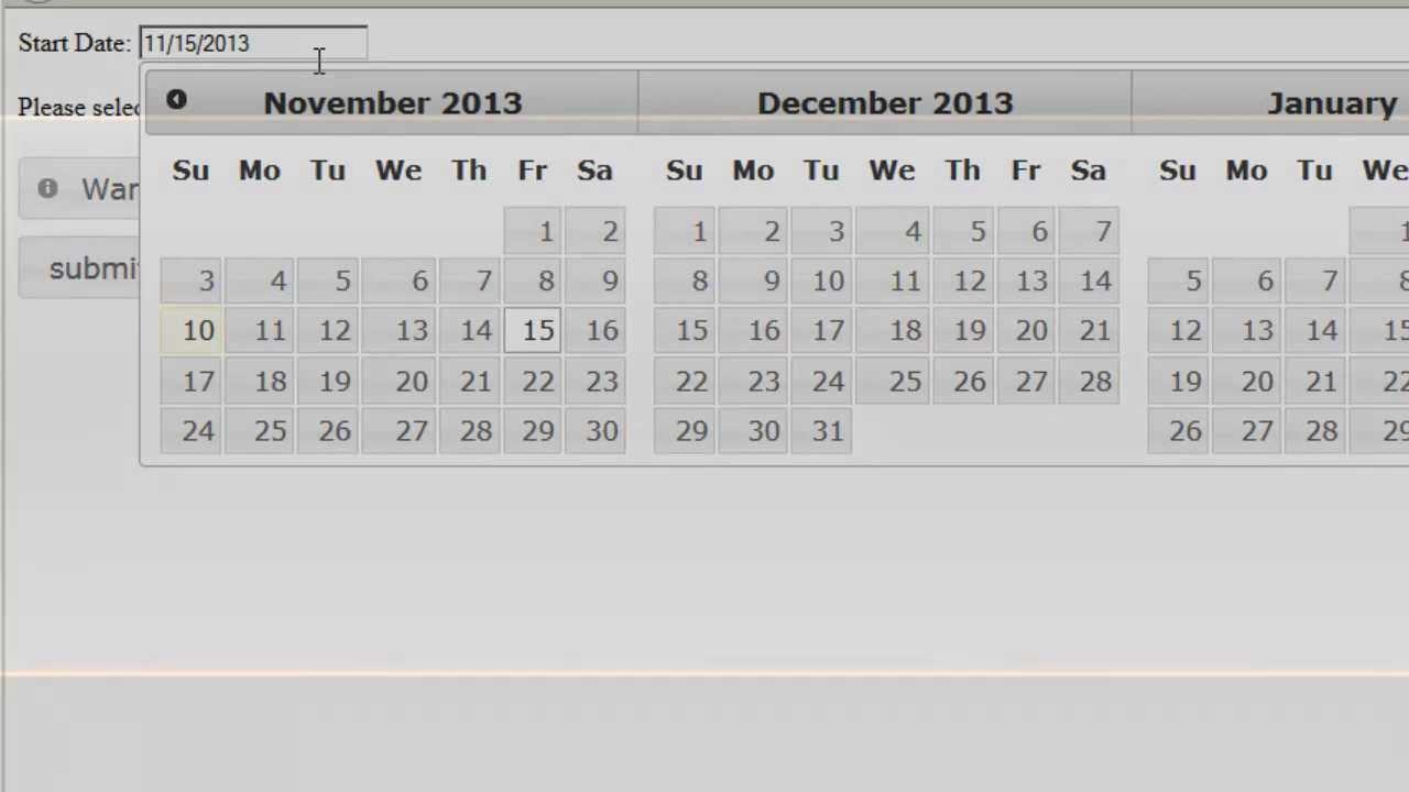 creating a basic calendar using jqueryui s datepicker youtube