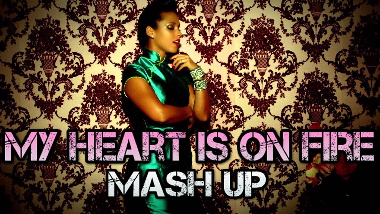 Alicia Keys & Demi Lovato & Rihanna & Nicki Minaj - My Heart Is On Fire (DJ Linuxis Mash Up)