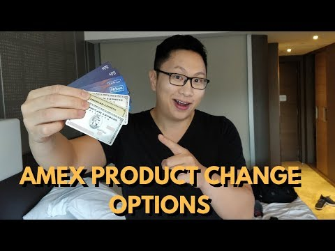 American Express Product Change Options