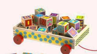 26 Abc Wooden Blocks In Storage Wagon (toy)