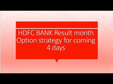HDFC Bank Option strategy for coming 4 days