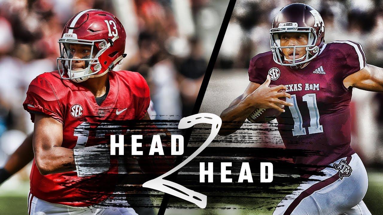 Head To Head Alabama Vs Texas A M Youtube